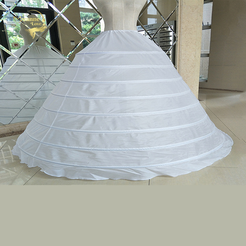 Big Wide 8 Hoops Petticoat For Ball Gown For Quinceanera Dress Strong Steels Crinoline Underskirt Jupon