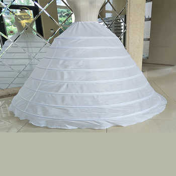 Big Wide 8 Hoops Petticoat For Ball Gown For Quinceanera Dress Strong Steels Crinoline Underskirt Jupon Mariage CW01398 - DISCOUNT ITEM  15% OFF All Category