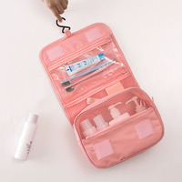 Waterproof Travel Hang Cosmetic Bag Women Large Capacity Portable Toiletries Travel Pouch Multi Function Storage Make