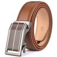 High Quality Genuine Leather Belt For Men Fashion Automatic Buckle Brown Belt Men FDN29