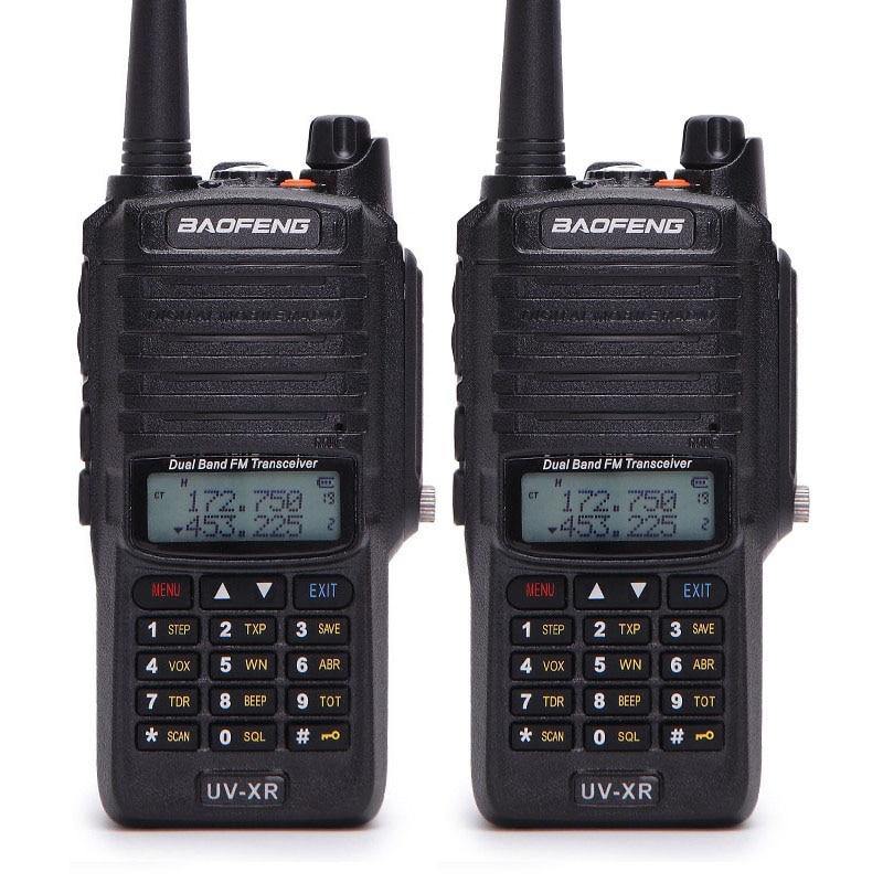 2pcs Baofeng UV XR 10W High Power 4800Mah Battery IP67 Waterproof Two Way Radio Dual Band