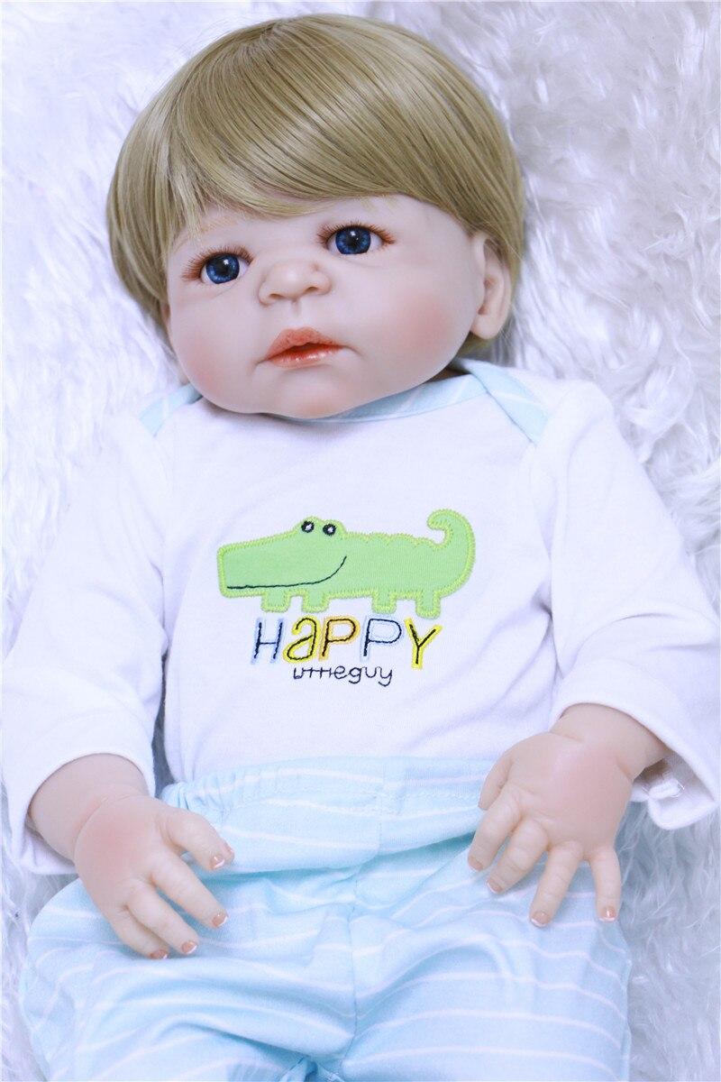 55cm Full Body Silicone Reborn Baby Doll Toys Play House Newborn Boy girl Baby dolls children birthday Gift bebe bonecas