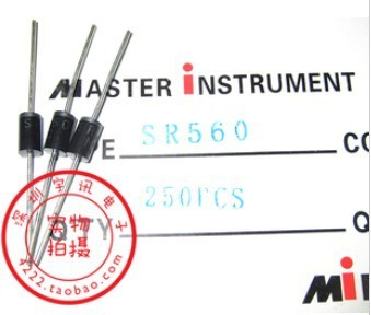 100PCS SR560 SB560 5A 60V Schottky diode rectifier diode