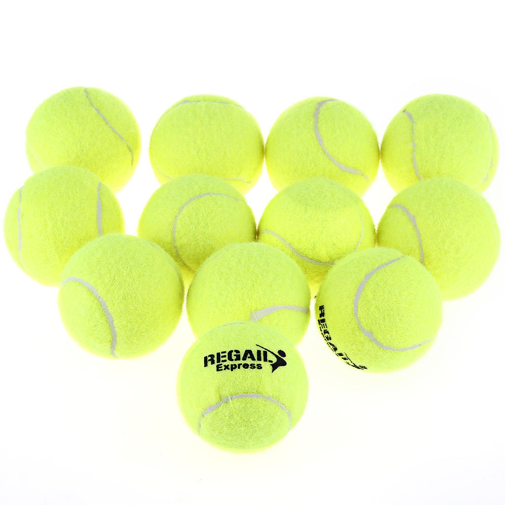 Beach Cricket Tennis Balls 12pcs High Elasticity Training Practice Ball For School Competition Training Exercises Dropshipping