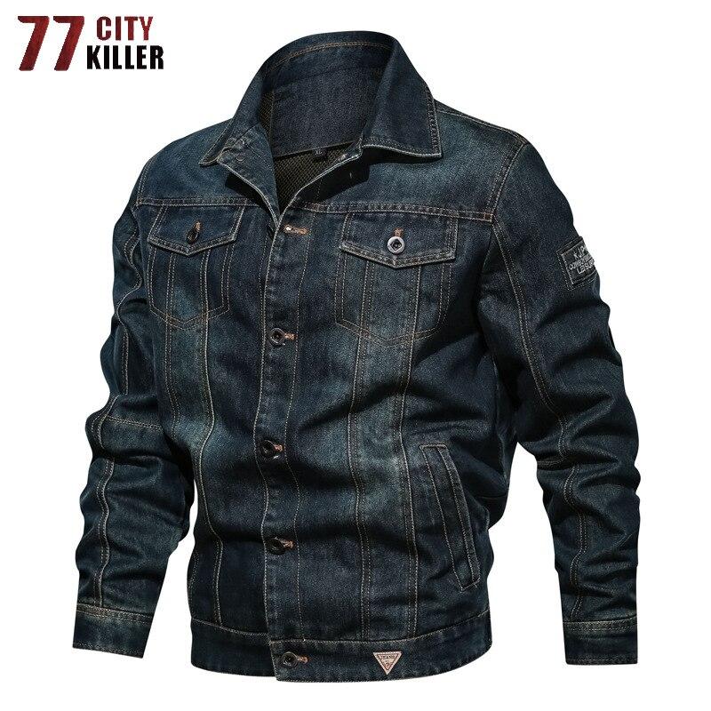 Haute qualité Denim veste hommes printemps décontracté Streetwear hommes vestes et manteaux mode Cowboy Designer vêtements vestes taille L-6XL