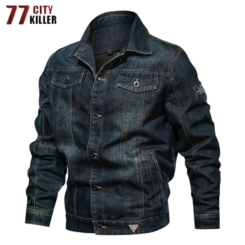 High Quality Denim Jacket Men Spring Casual Streetwear Mens Jackets and Coats Fashion Cowboy Designer Clothes Jackets Size L-6XL