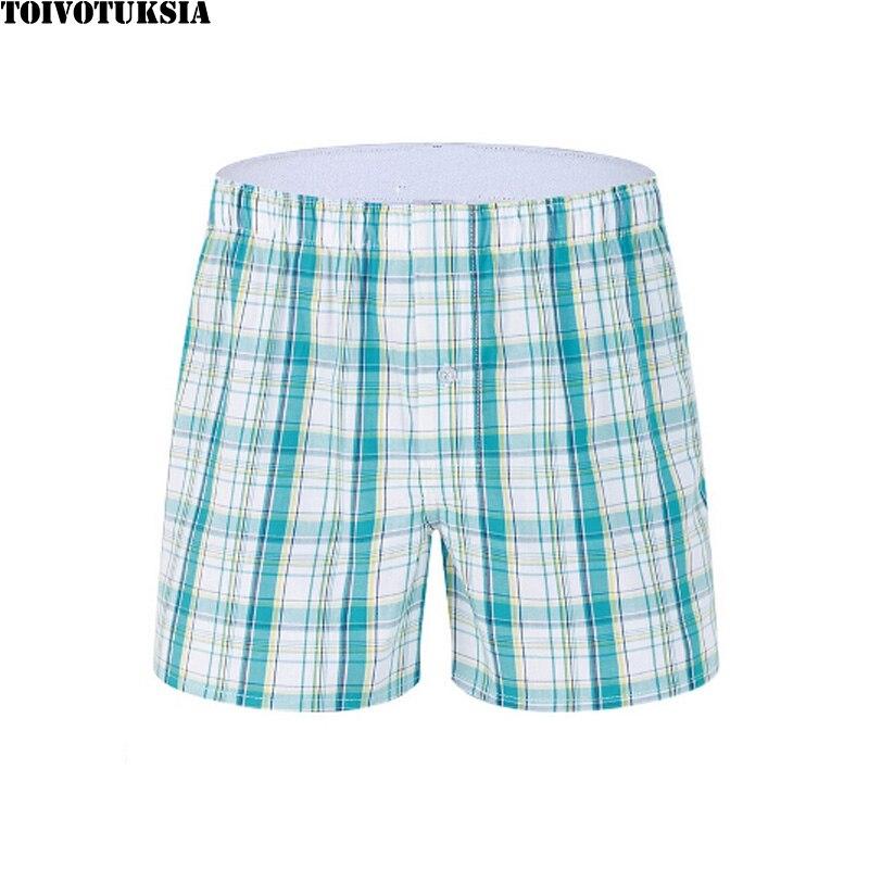 Hot Sale Men Male Underwear Full Cotton Men 39 s Boxer Underwear Sexy Plaid Cotton Underpants in Boxers from Underwear amp Sleepwears