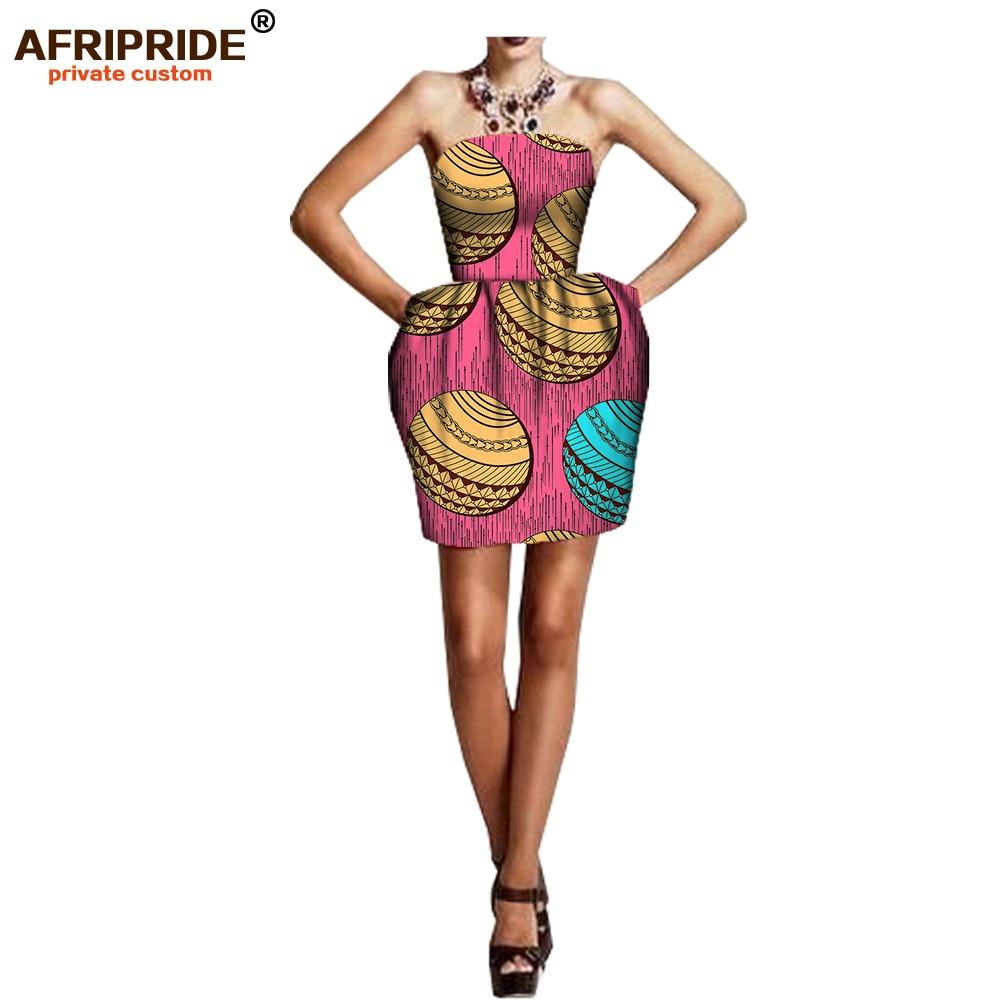 2019 african summer women bud dress AFRIPRIDE sleeveless above knee length bud dress for women 100