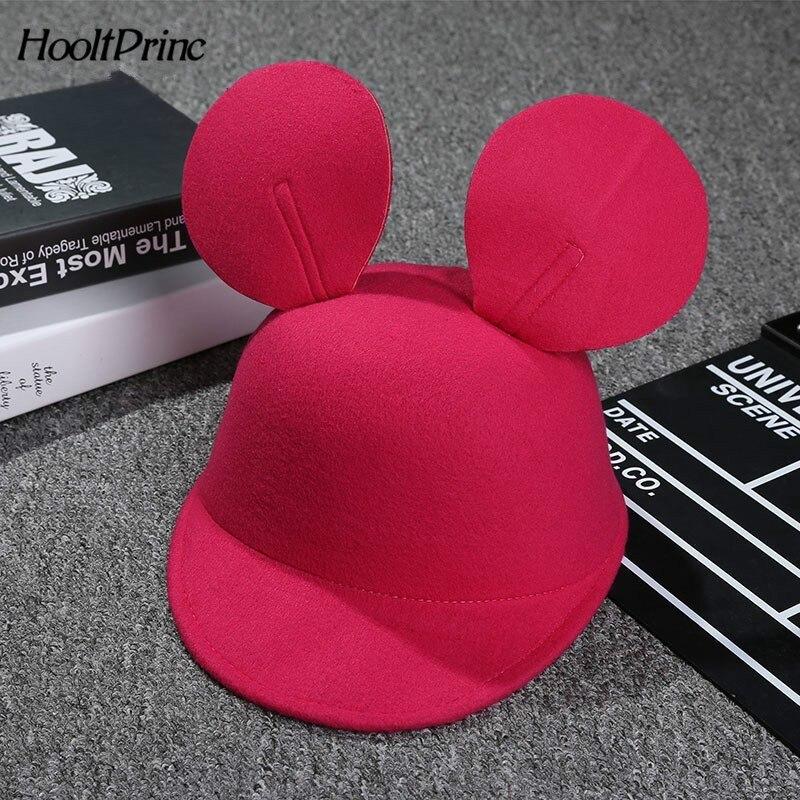 Mickey   Baseball     Cap   For Kids Cute Casual Peaked   Cap   Solid Gorras Boys Girsl Lovely Mickey Ears Casquette Snapback Hats