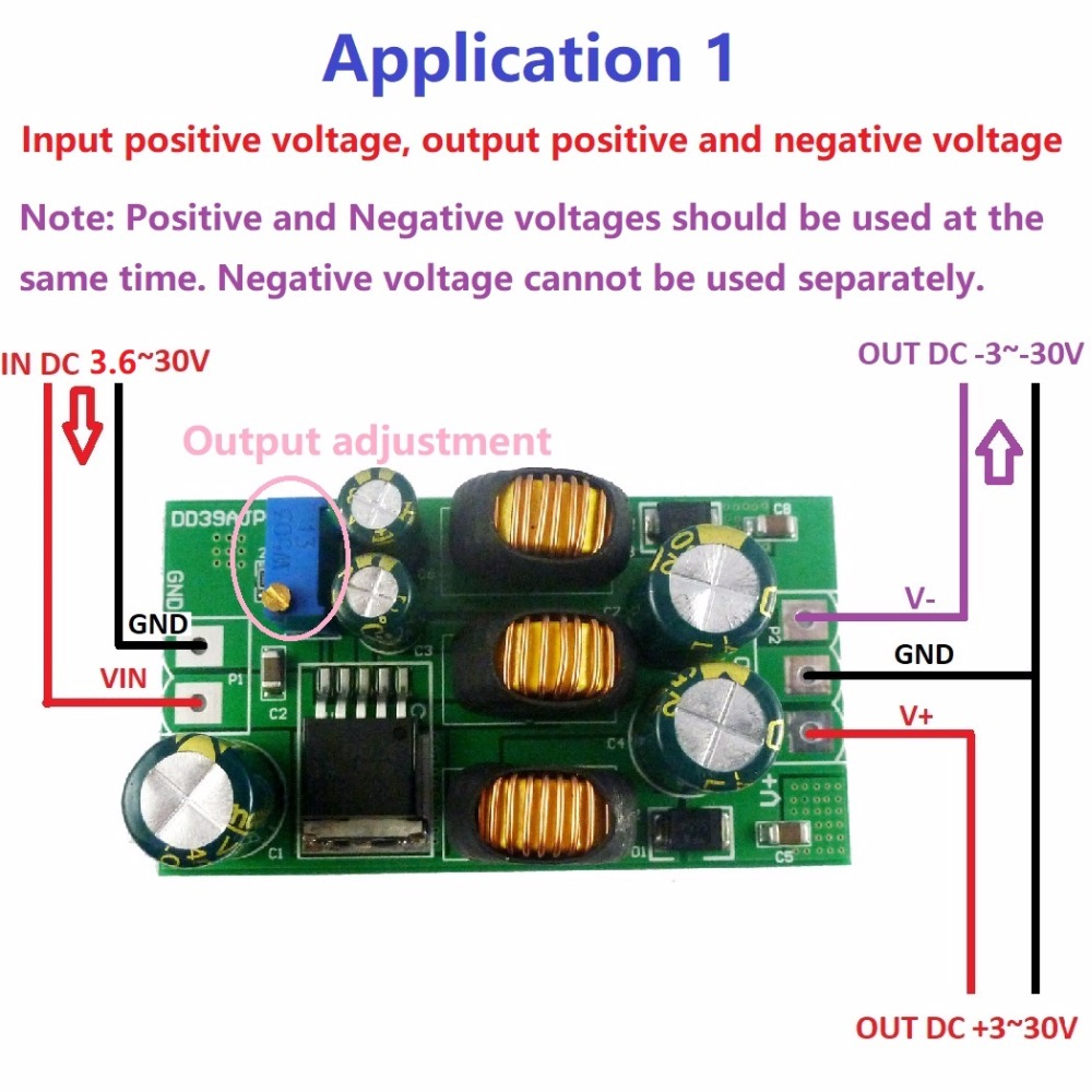 20w 5v 6v 9v 10v 12v 15v 24v Positive Negative Dual Output Power Voltage To Converter A2 The Cannot Be Used Alone When Using A Same Load Must Connected At Terminal