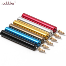 hot deal buy leather craft edge oil pen leather dye pen stainless steel brush brass head applicator paint roller tools for leathercraft diy