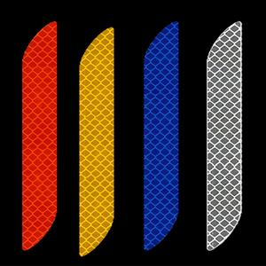 Image 2 - Universal Car Reflective Sticker Warning Safety Paster Water Resistant Car Rear Bar Decorative Sticker for Road Safety Needs