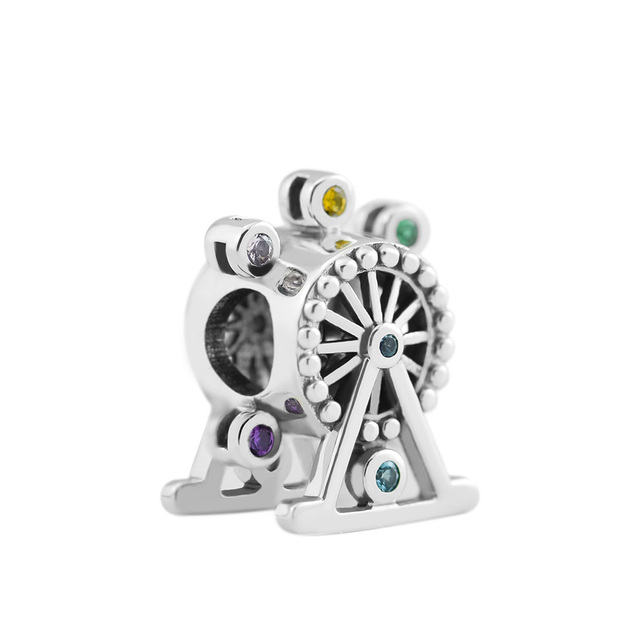 Pandulaso Colour Happiness Wheel Charm Fashion Beads For Jewelry Making Fits Sterling Silver Jewelry Bracelets For Woman Gift