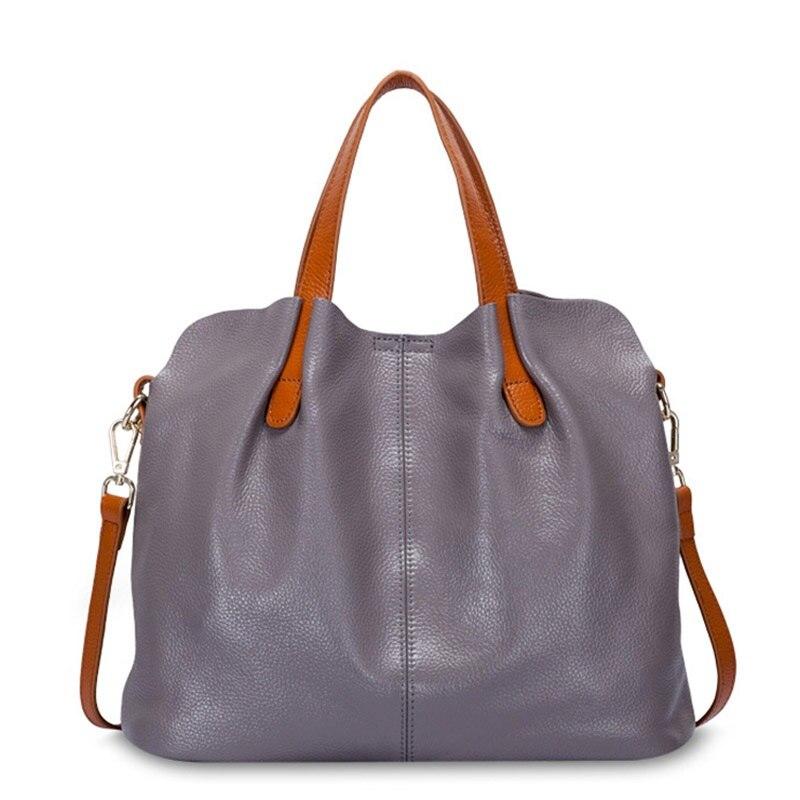 Tasche weibliche frauen 100% echtem leder taschen handtaschen umhängetaschen für frauen schulter taschen aus echtem leder bolsa feminina Tote