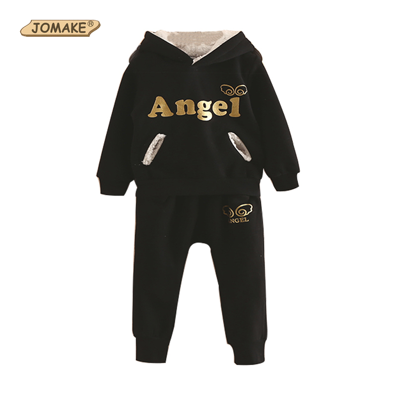 Angel Wings Children Set Girl Clothing Baby Boy Birthday Hoodies Coat+Pants Thick Fleece Winter Warm Cute 2Pcs Kids Clothes Sets 2pcs set baby clothes set boy