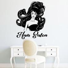 Modern hair salon Wall Decal Sticker Home Decor For Kids Room Decoration Waterproof Living Room Mural adesivo de parede цена