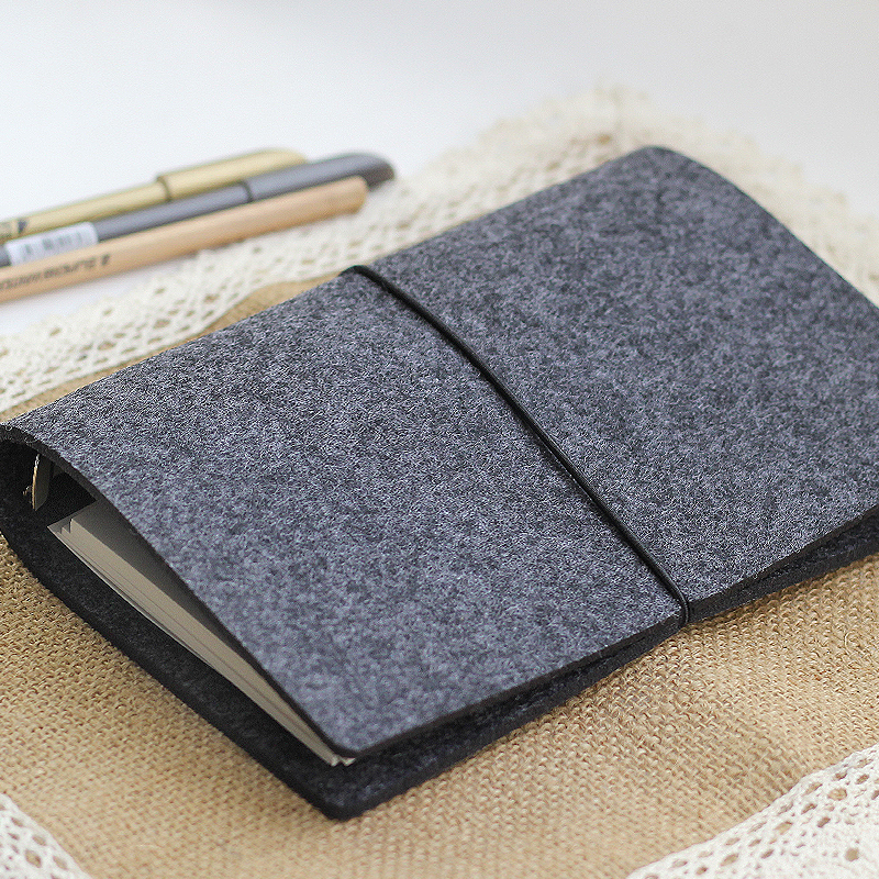 Office & School Supp. ...  ... 32813826412 ... 3 ... JIANWU Felt shell  fabric note book loose leaf inner core  A6, A7 notebook diary  A5 plan binder  office supplies  ring binder ...