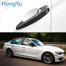 For  BMW 3 series E90 E91 E92 E93 F30 F31 F35 Auto Exterior Carbon Fiber Made Door Handle Cover Sticker Decorations Overlay Trim