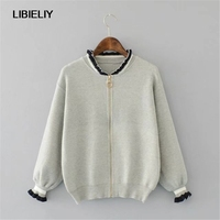 New Embroidery Solid Cardigan Sweater Women Nice Spring And Autumn Fashion Long Sleeve Sweaters Woman Casual Sweaters Female
