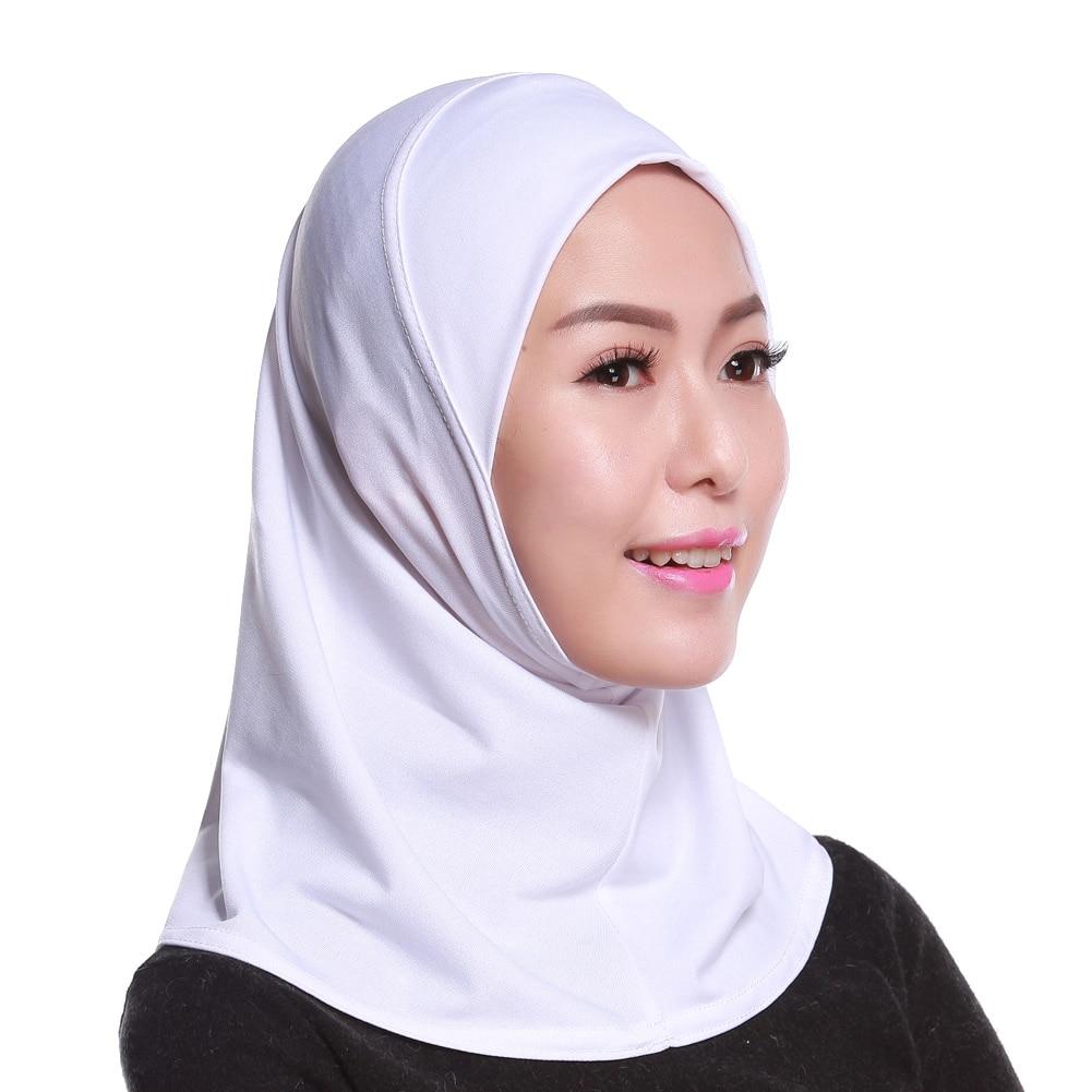 Muslim Women's Long Shawl Wrap Hat Cap HeadScarf Hijab Underscarf Headwear Fashion Scarf Muslim Women's Hat
