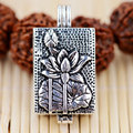 V.YA 925 Sterling Silver Box Pendant S925 Solid Thai Silver Pendants bring Good Luck Open Pendant Women Men Jewelry