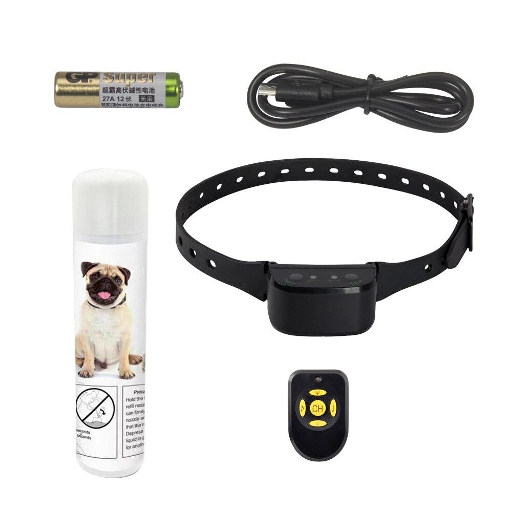 Obroża dla psa 2 w 1 innowacyjne kompaktowy pilot zdalnego Spray obroża dla psa obroża elektryczne ogrodzenie dla psów System w Odstraszacz psów od Dom i ogród na  Grupa 1