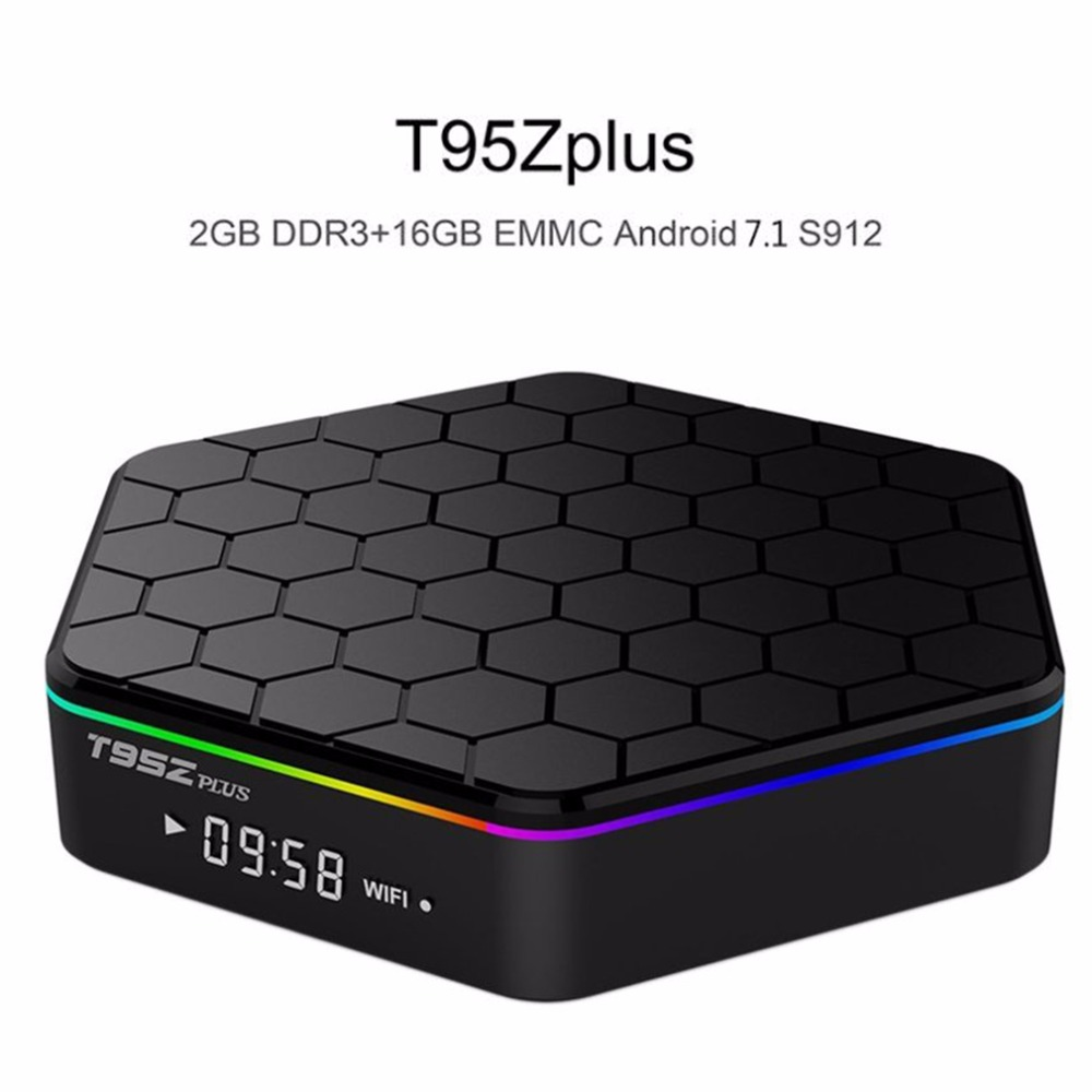 Original T95Z Plus TV Box 2GB 16GB Amlogic S912 Octa Core Android 7.1 Bluetooth 2.4G/5GHz Dual WiFi Smart BOX pk m8s pro X96 X92 2gb ram 16gb rom android 6 0 smart tv box s912 octa core dual wifi uhd 4k zoomtak u plus