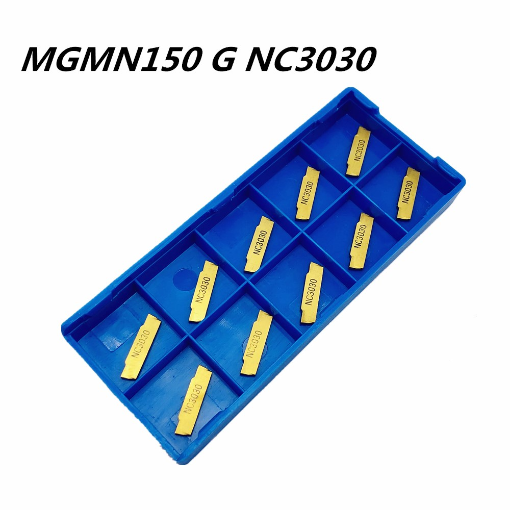 10PCS MGMN150-G NC3020 1.5mm Carbide Inserts for MGEHR//MGIV​R Grooving Cutting