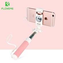 FLOVEME แบบมีสาย Selfie Stick สำหรับ iPhone 6 6S สำหรับ Huawei Samsung Monopod Stick สำหรับ Selfie แบบพกพา Selfiestick Monopod