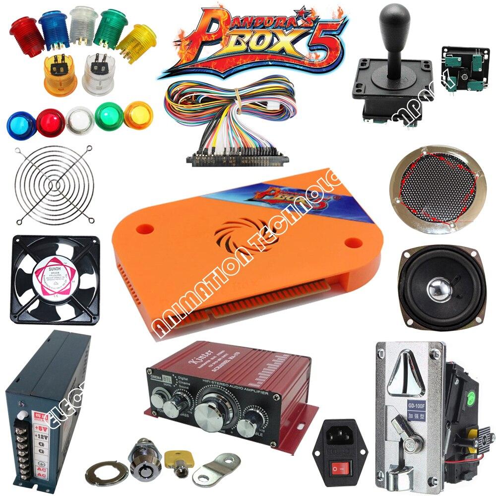 Arcade Jamma mame arcade parts kit 2 joysticks 16 buttons 1 jamma cable  high quality and pandora box 5