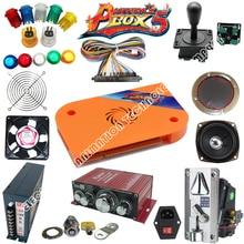 Arcade Jamma mame arcade parts kit 2 joysticks 16 buttons 1 jamma cable high quality and pandora box 4