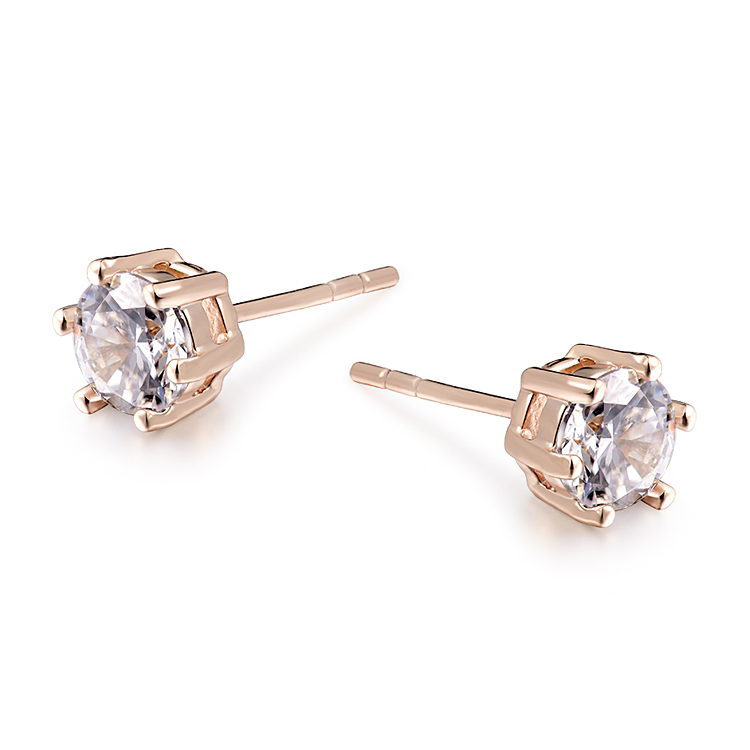 2017 Sale Fashion Stud Earrings For Women Brincos Ouro CZ Zircon Zirconia Earring Gold Color Earings Free shipping 22E18K-14
