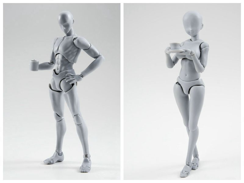 ALEN Anime Figma Archetype Body Chan Body Kun figma new ferrite 2.0 Gray DX Ver Movable figure pvc collection model toys SHF [pcmos] body kun dx