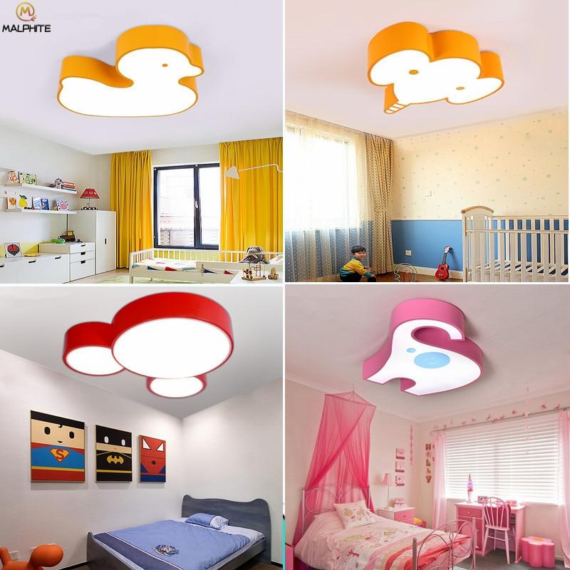 Animaux nordiques LED plafonnier moderne animaux de couleur salon LED plafonniers luminaires chambre d'enfants Luminaire