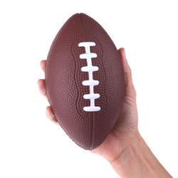 Mini suave estándar PU espuma fútbol americano fútbol Rugby pelota apretón niños adultos cumpleaños navidad regalo de fútbol (Color al azar