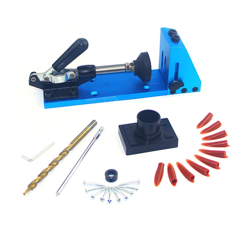 Woodworking Drilling Locator Guide Kit Wood Drilling Hole Guide Jig Doweling Hole Kit DIY Carpenter Hand Tools|Tool Parts| |  - title=
