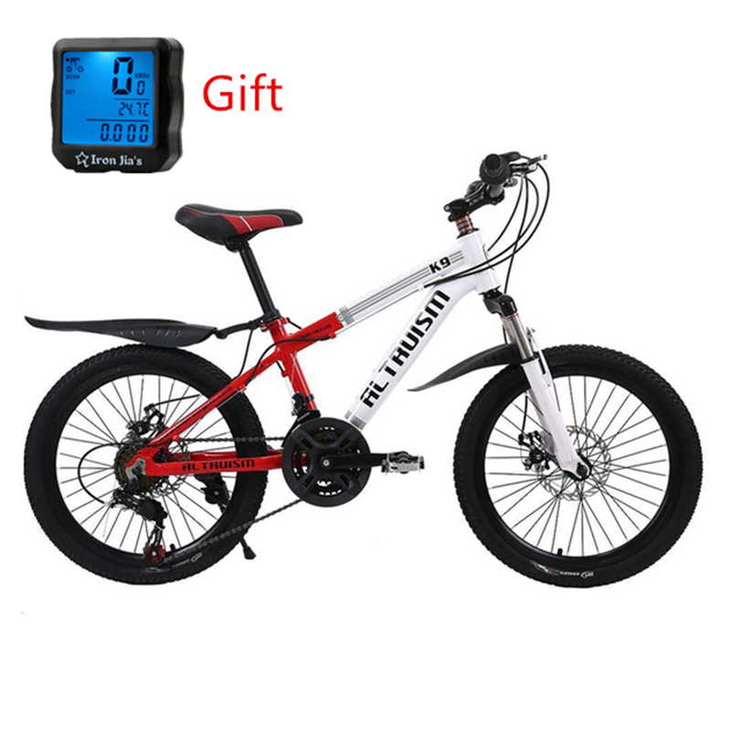 ALTRUISM K9 Mountain Bike 21 Speed Bicycles Double Disc Brake Aluminum Bikes 20Inch Child Bicycle Lightweight City Sports Bikes mountain bike four perlin disc hubs 32 holes high quality lightweight flexible rotation bicycle hubs bzh002