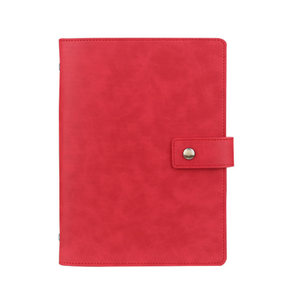 Image 4 - Yiwi A5 Business Planner Black Red Soft Pu Leather loose Leaf Binder Spiral Office Notebook With line Inner Pages