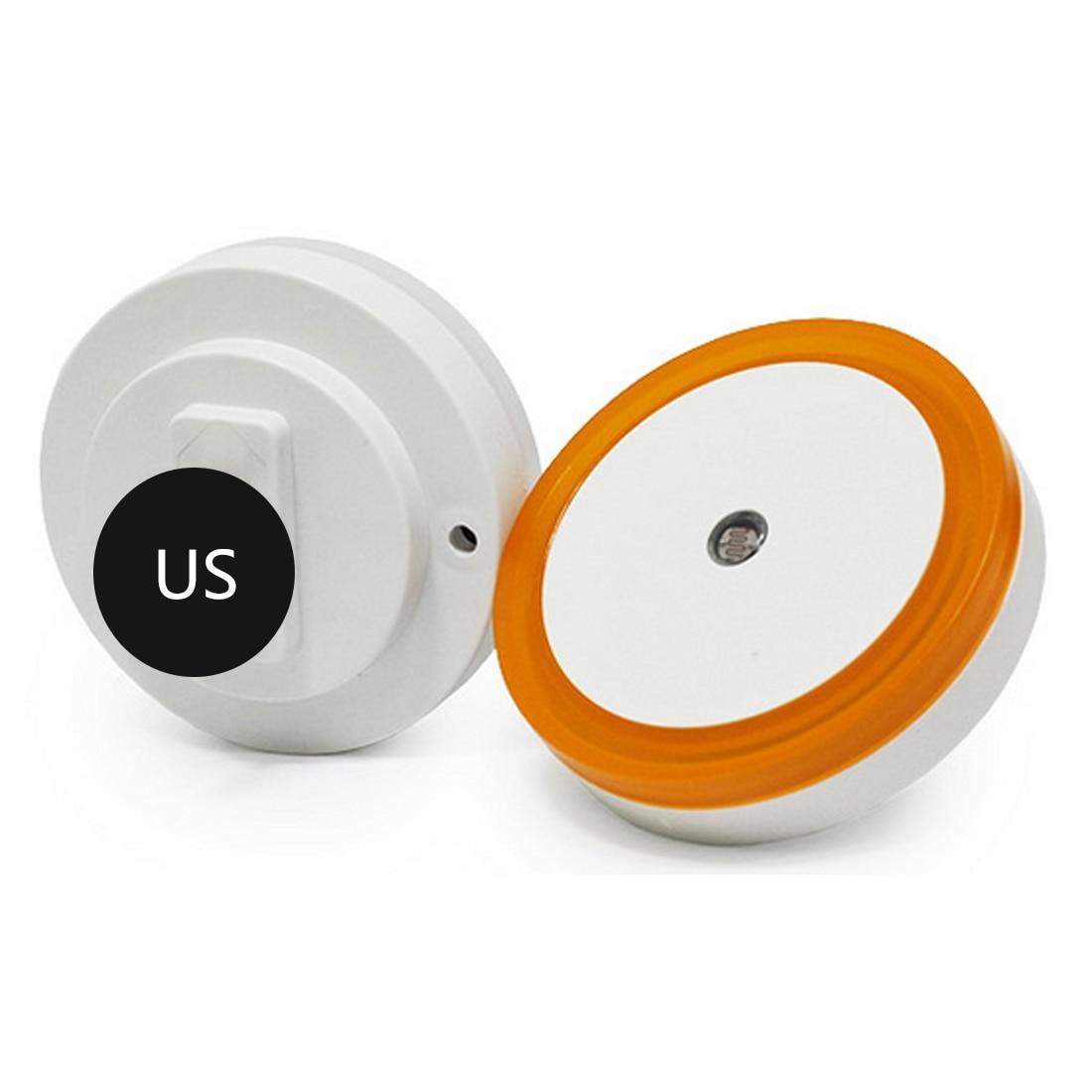 1 St Auto Led Licht Praktische Inductie Sensor Controle Slaapkamer Night Lights Bed Lamp Ronde Vorm 110-220 V 4 Kleuren Us Plug