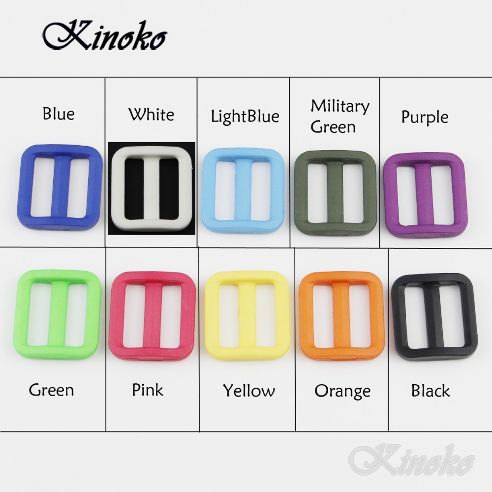 mix Friendly 10/100/1000pcs Pack Mixed Color Plastic Tri Glide Adjust Slider Buckles Wider Style Straps Webbing 20mm #a016 Products Are Sold Without Limitations
