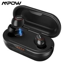 Mpow T5/M5 M บลูทูธ 5.0 TWS หูฟัง AptX IPX7 หูฟังกีฬากันน้ำพร้อมไมโครโฟนตัดเสียงรบกวนสำหรับ iOS Android โทรศัพท์
