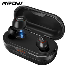 Upgraded Mpow T5 Bluetooth 5.0 TWS Earphone Aptx IPX7 Waterproof Sport Earphones With Noise Canceling Mic For iOS Android Phone(China)