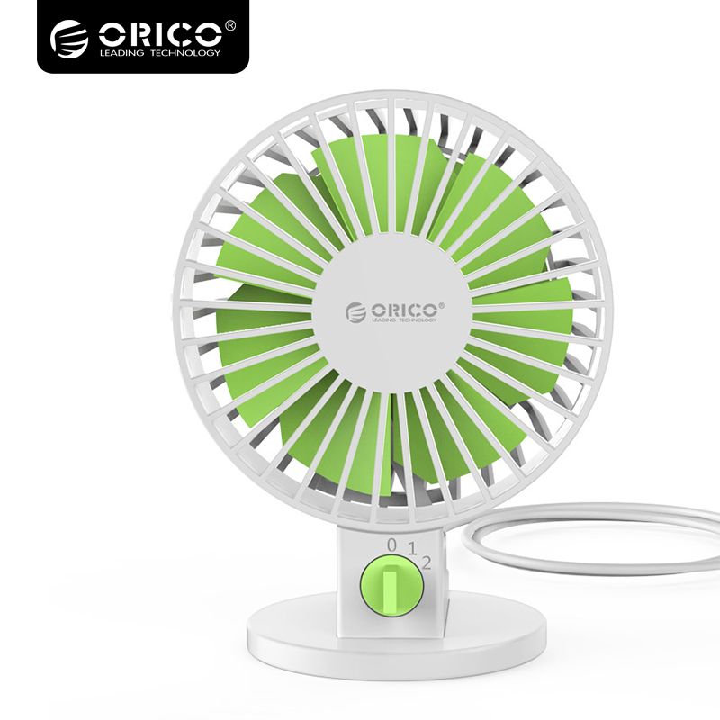 ORICO USB Fan Flexible USB Portable Mini Fan with Key Switch Angle  adjustable  for Notebook Laptop Computer Power -White original xiaomi portable flexible usb mini fan for power bank laptop