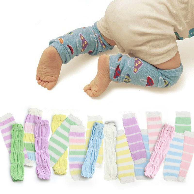 Girls' Baby Clothing 3pair/lot Newbron Stripe Leg Warmers Baby Knee Pads Cotton Children Anti-mosquito Boy Girls Socks For 0-3 Year Socks & Tights