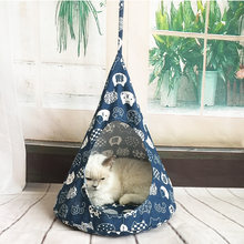 MPK lit de chat suspendu, hamac pour chat, maison de chat confortable(China)