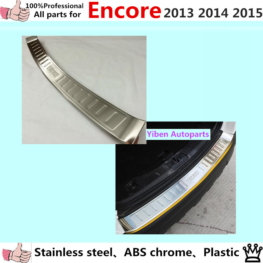 car body Styling Stainless Steel Inner Rear Bumper trim plate lamp frame threshold pedal 1pcs for Buick Encore 2013 2014 2015 for porsche cayenne 2015 stainless steel outer rear bumper foot plate trim 1pcs car styling