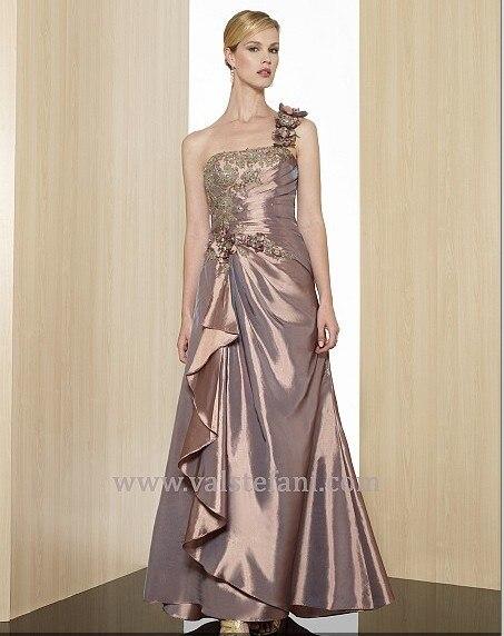free shipping 2014 new arrival maxi vestido de festa long   dress   beaded taffeta   dress   one shouler elegant party   evening     dress