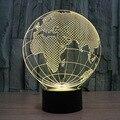3D acrílico América mapa lâmpada luz da noite de carregamento luz luna melhor natal presente de aniversário rodada luz frete grátis