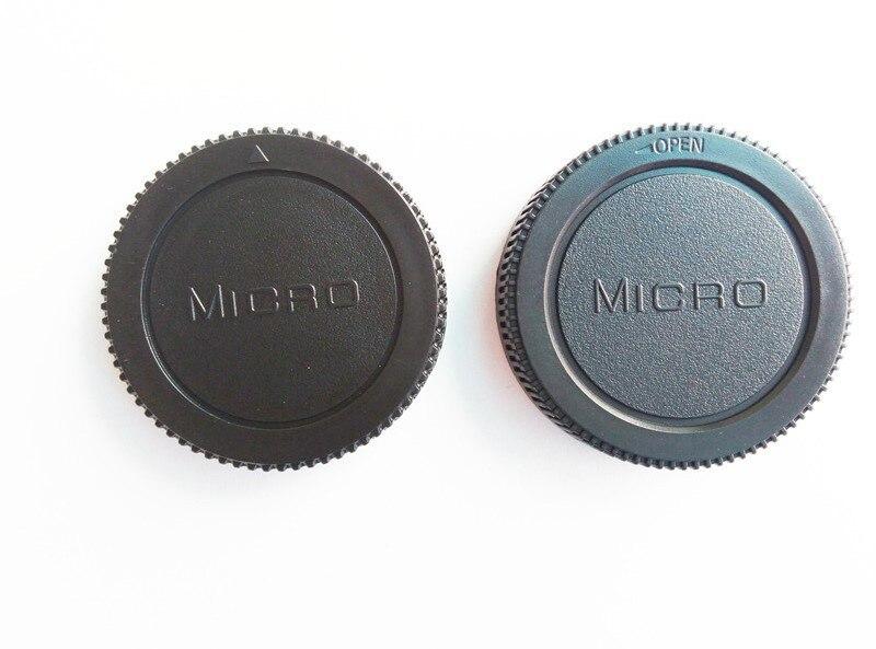 Bouchon de corps d'appareil photo 50 paires/lot + capuchon d'objectif arrière pour Micro M4/3 m43 Olympus Panasonic GF1/GF2/GF3-in Cache objectif from Electronique    1