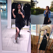 Maxi Shirt Dress Women Autumn Winter Beach Sexy Elegant Casual Ukraine Bandage Knitted Black Boho Bodycon